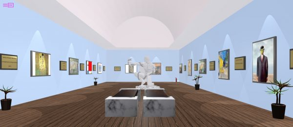 3D Gallery on a web browser