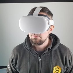 David Tully with VR headset on