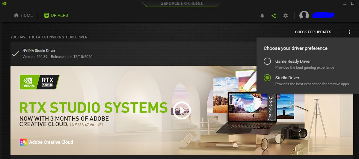 Geforce Experience drivers