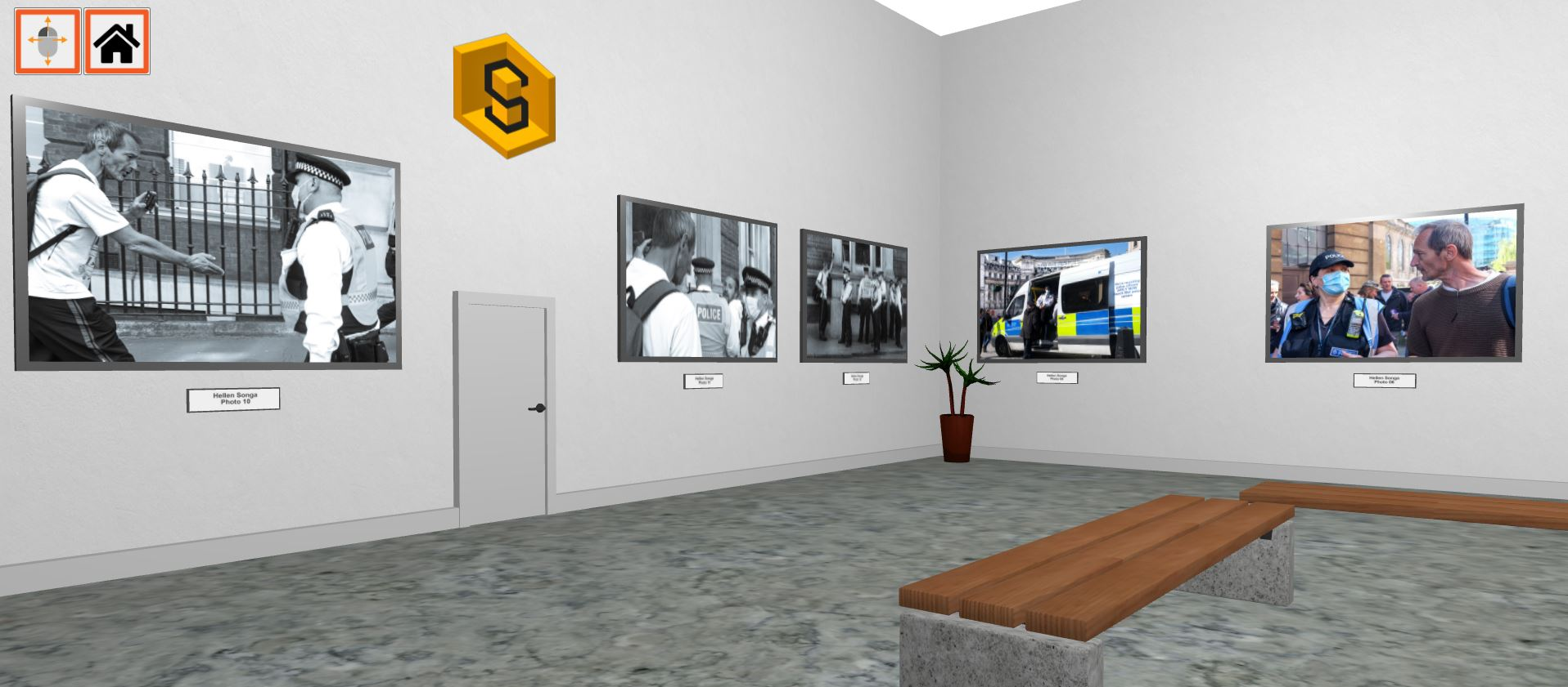 art gallery showing police