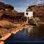 3D scene of daytime fantasy Desert