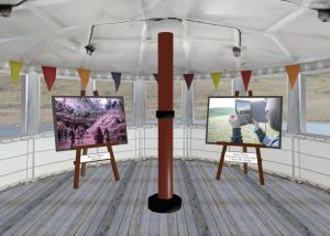 Image gallery on a 3D ship